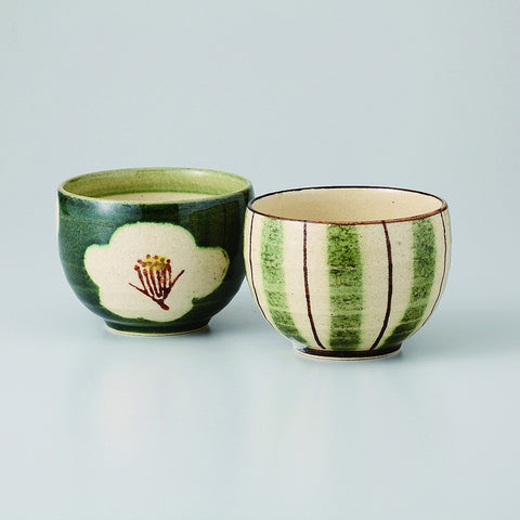 Set of 2 Bowls - Green & Brown