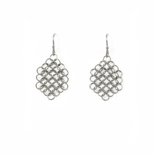 Louison Mesh Earrings - Silver