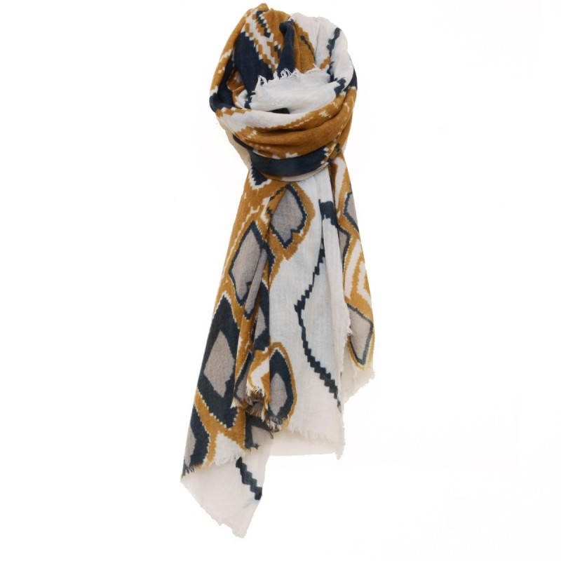 Berbere Wool Scarf Yellow