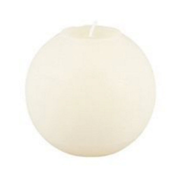Ball Candle 12cm - White