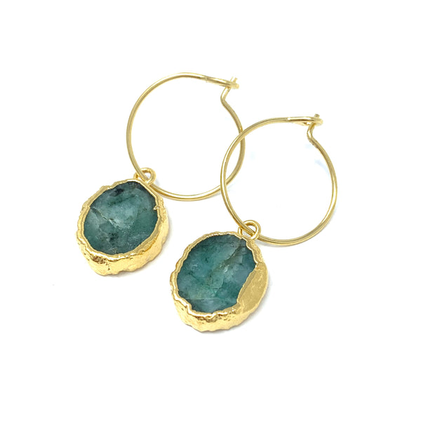 Kara Earrings - Emerald Root