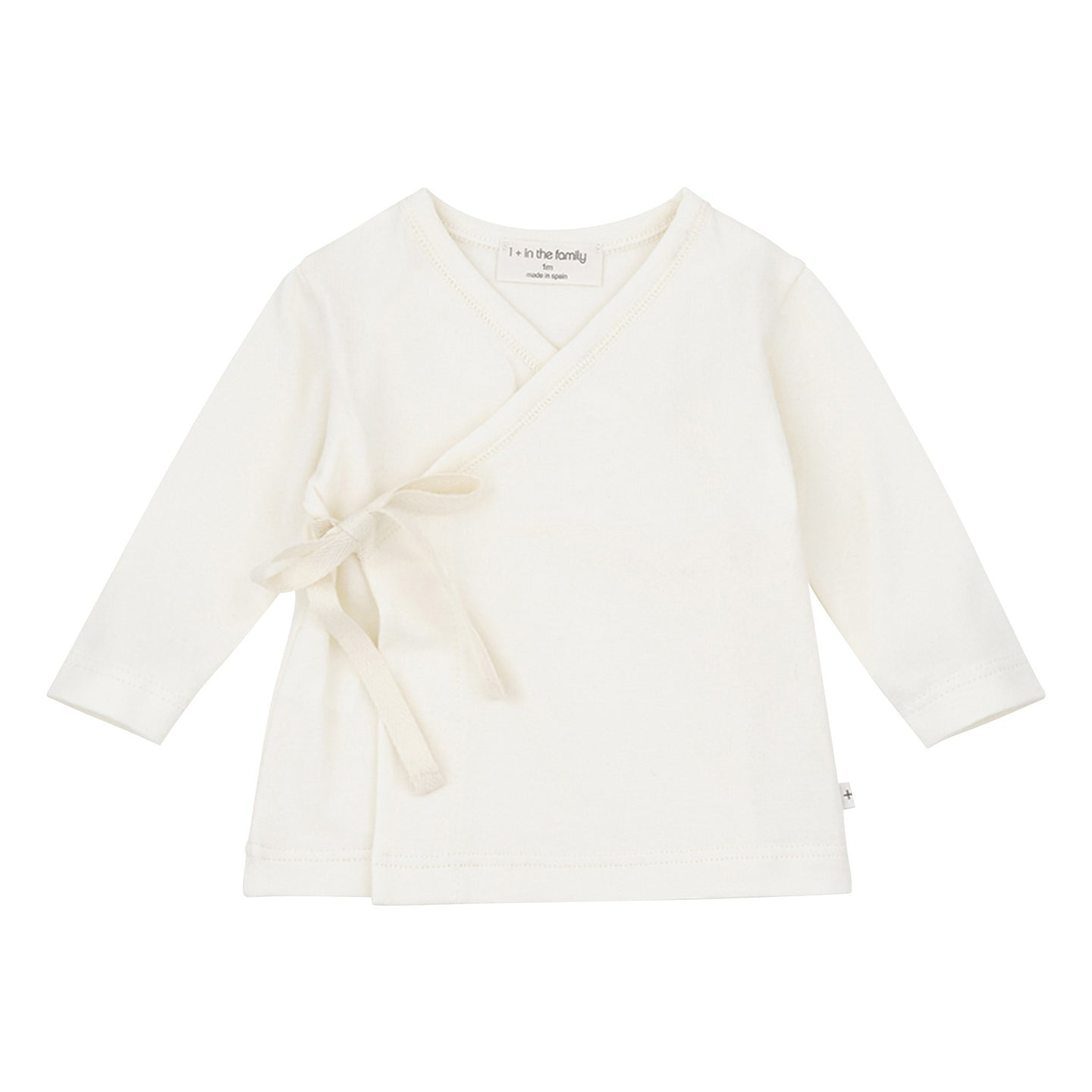 whit3e cross top with ribbon tie for baby
