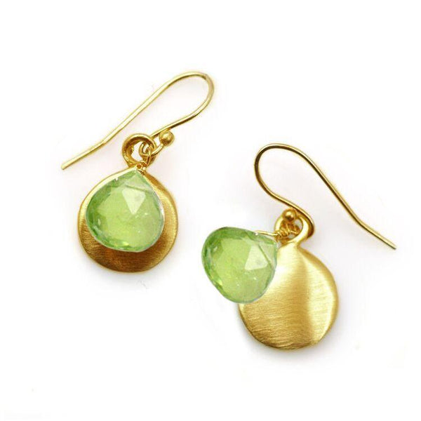 Gold Vermeil Earrings with Peridot