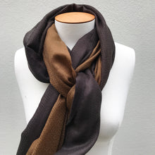 Load image into Gallery viewer, Cashmere Scarf Bronze & Black