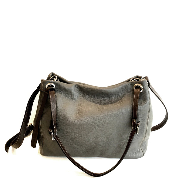 Adria Shoulder Bag Fog Grey with Taupe