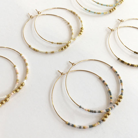 Clementine Hoop Earrings - Large