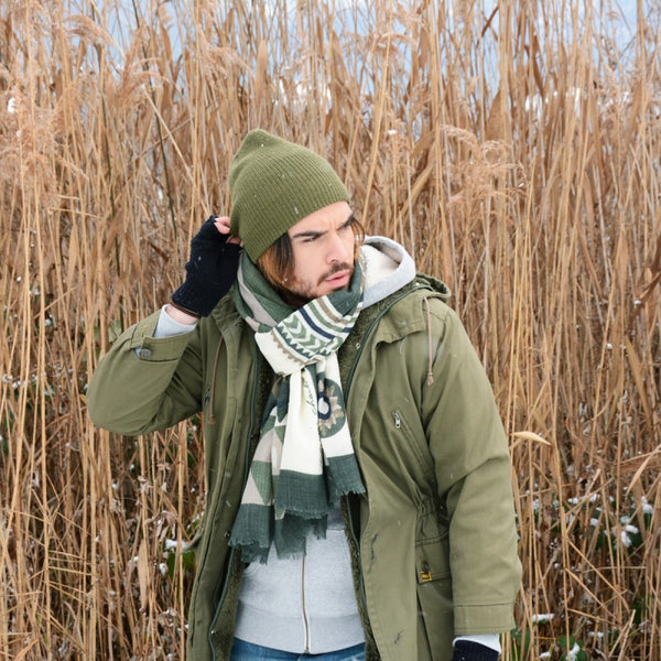 Umea Wool Scarf Green