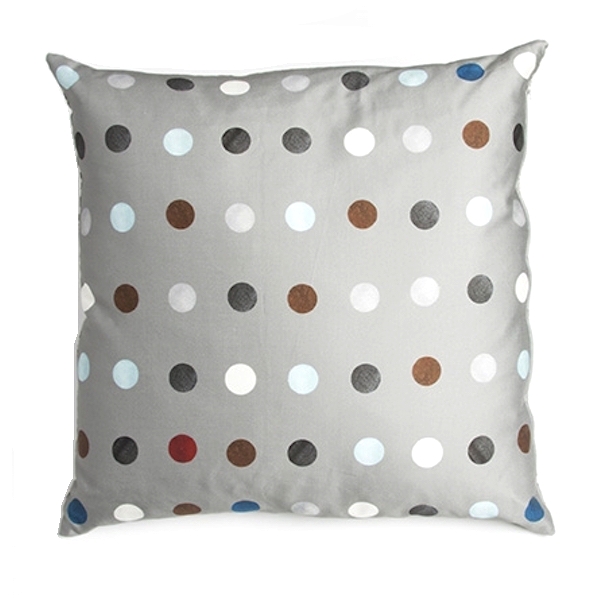 Silk Cushion Graphic Blue Dots