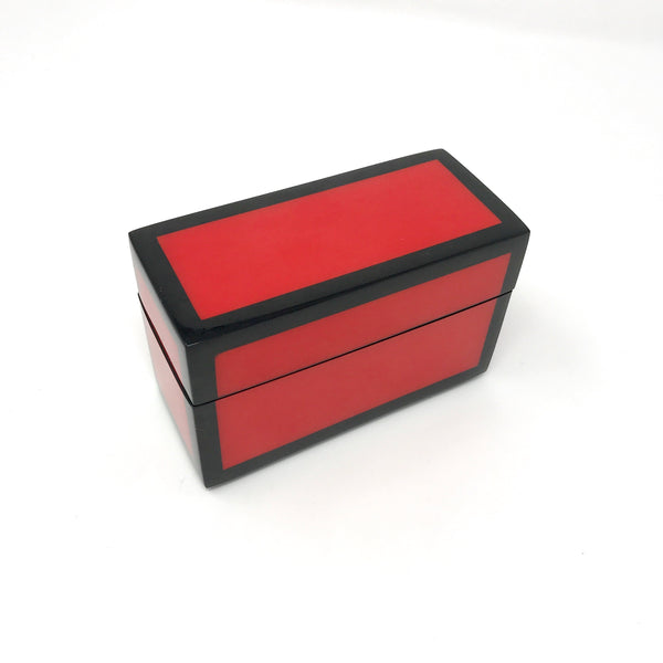 Red with Black Trim Lacquer Boxes
