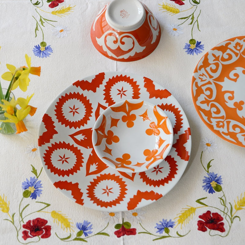 Khiva Plate Vermilion Red