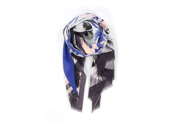 Kokomo Cotton Scarf Blue
