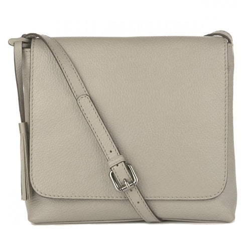 grey crossbody messenger bag leather