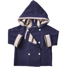 Load image into Gallery viewer, Multi Stripe Merino Jacket - French Navy/Candytuft Pink