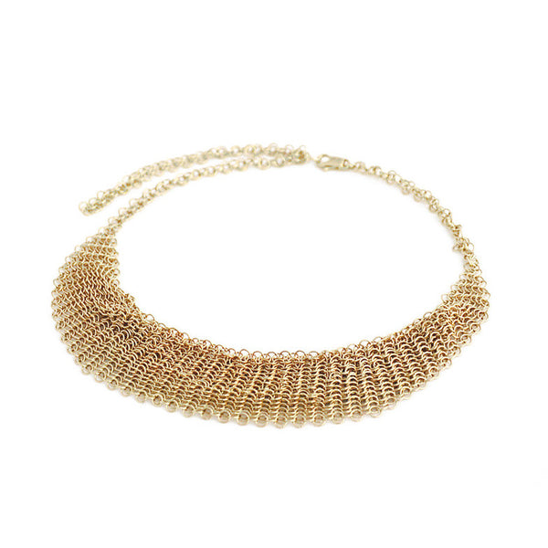 Collection B Chainmail Necklace - Gold