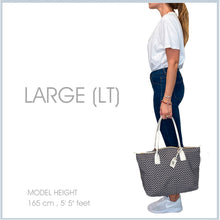Load image into Gallery viewer, Tatami Tote - Supergrey with White