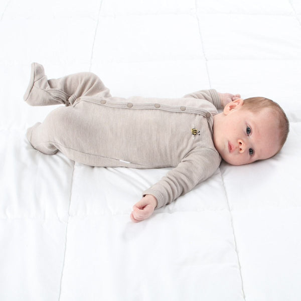 Merino Babygrow Sable Bee
