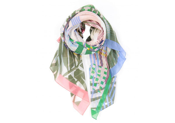 Sauvage Cotton Silk Scarf Fruit