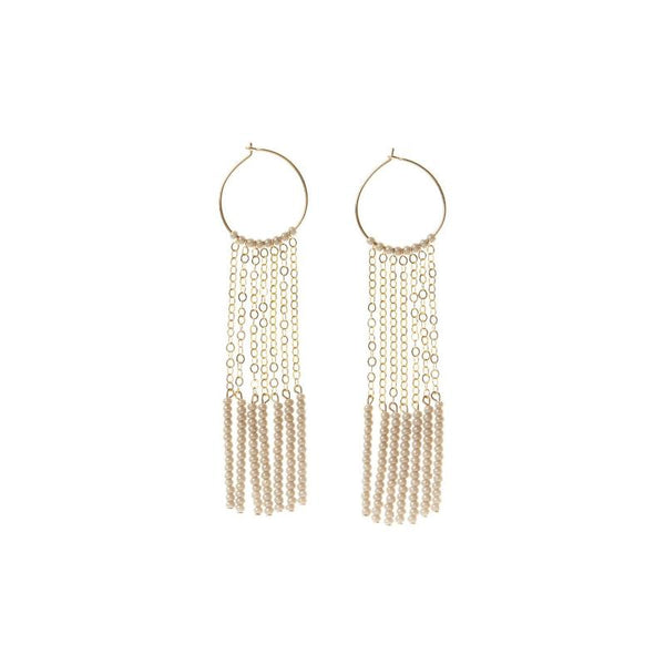 Kisongo Tassel Hoop Earrings