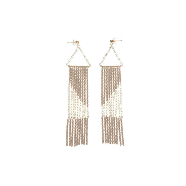 Kisono Geometric Earring with Chain