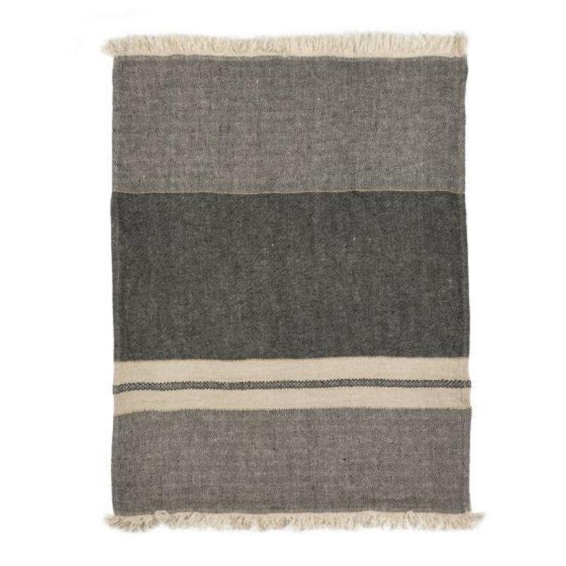 The Belgian Linen Throw/Towel - Tack Stripe