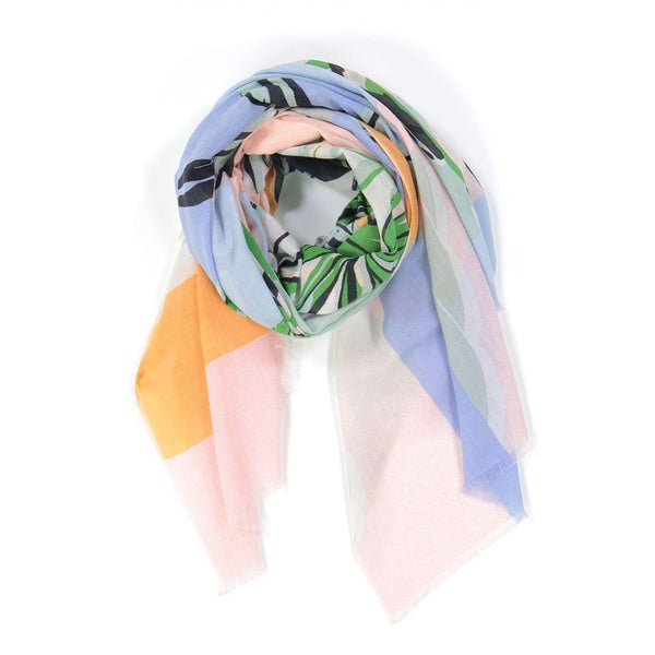 Tropical Cotton Scarf Pastel