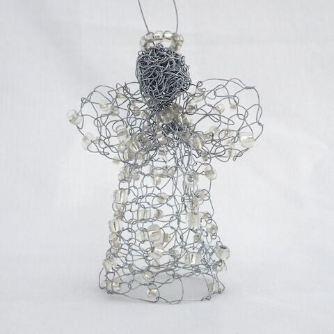 Hand Crocheted Mini Wire Angel - Sara