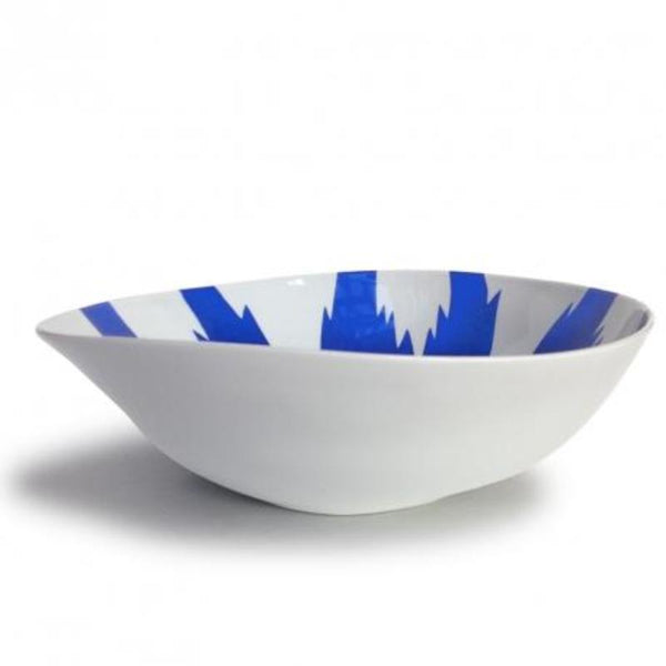 Ikat Blue Wide Salad Bowl