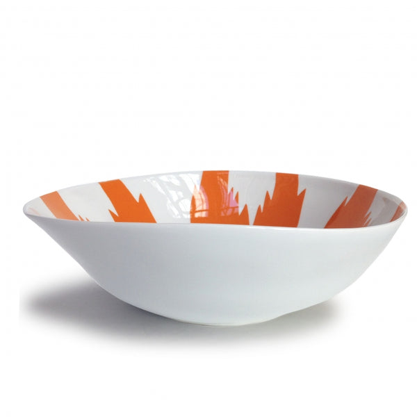 Ikat Orange Wide Salad Bowl