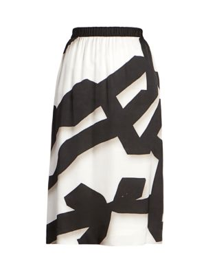 Dries Van Noten Ribbon Patterned Midi Skirt