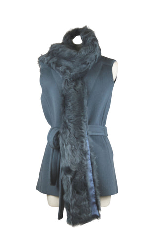 Mantu Belted Vest with Shearling