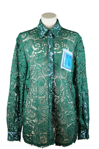 No.21 Embroidered Lace Shirt with Pocket