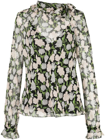 Jason Wu Sheer Floral Blouse (Pick Up in Store Only)