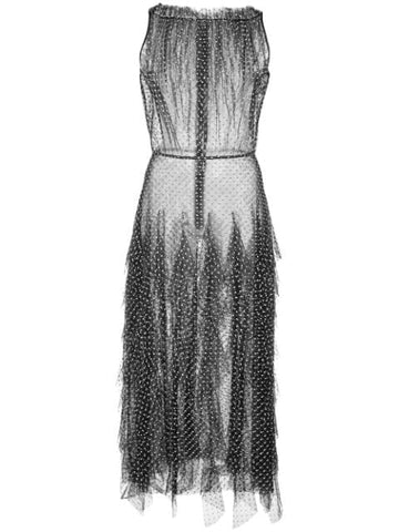 Jason Wu Ruffled Polka Dot Print Dress (Pick Up In Store Only)