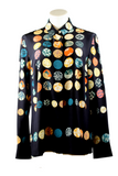 Akris Blouse in Wood Dot Print