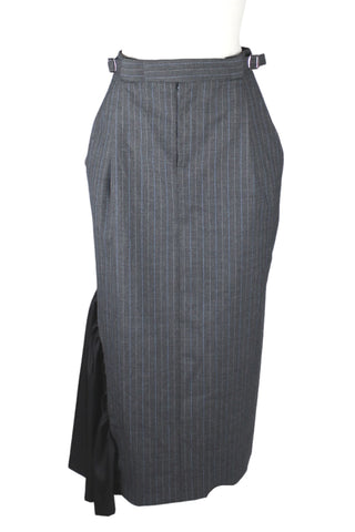 Preen Pinstripe with Insert Midi Skirt (Pick Up In Store Only)