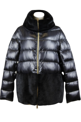 Herno Puffer Jacket with Eco Fur Trim (Pick Up In Store Only)