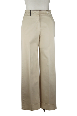 Peserico Wide Leg Cuffed Pants