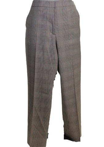 Mantu Grey Multi Check Print Pants (Pick Up In Store Only)