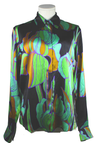 Dries Van Noten Silk Printed Blouse