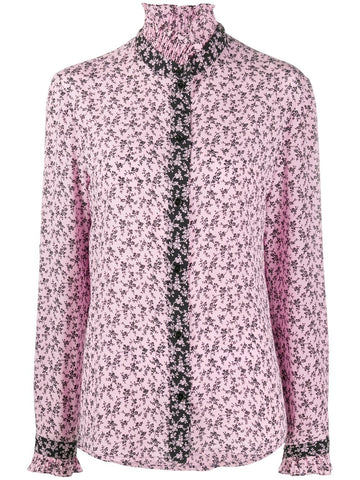 Philosophy Di Lorenzo High Neck Floral Blouse