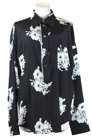 No. 21 Printed Floral Blouse