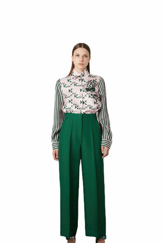 Dice Kayek Wide Leg Folded Trousers