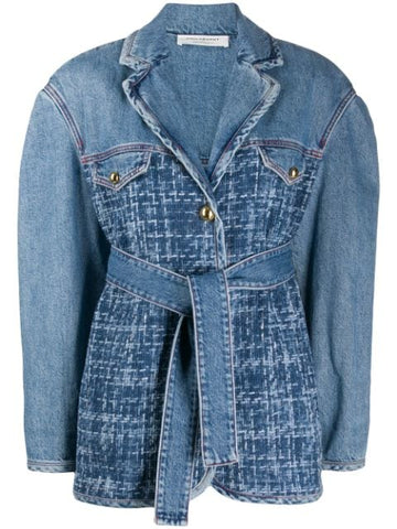 Philosophy Di Lorenzo Serafini Tweed and Denim Jacket (Pick Up In Store Only)