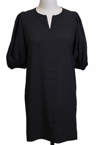 Ganni Black Puff-Sleeve Dress (Pick Up In Store Only)