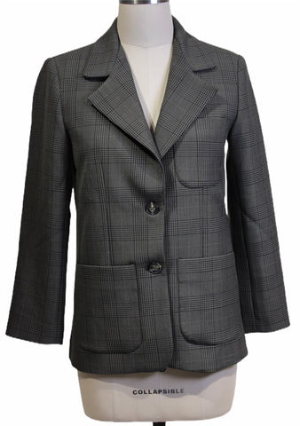 Ganni Check Oversize Blazer (Pick Up In Store Only)