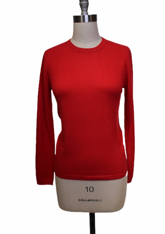 Absolut Cashmere Red Crewneck Sweater (Pick Up In Store Only)