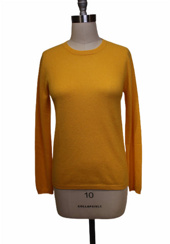 Absolut Cashmere Yellow Crewneck Sweater