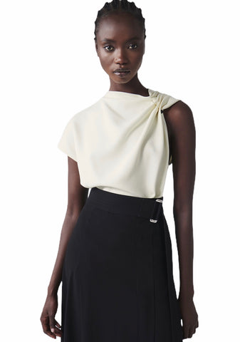 Victoria Beckham Sleeveless Side-Drape Top (Pick Up In Store Only)