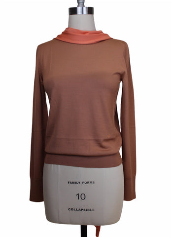 Victoria Beckham Tie Neck Merino Sweater(Pick Up In Store Only)
