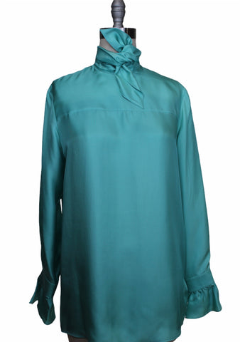 Victoria by Victoria Beckham Tie Neck Blouse (Pick Up In Store Only)